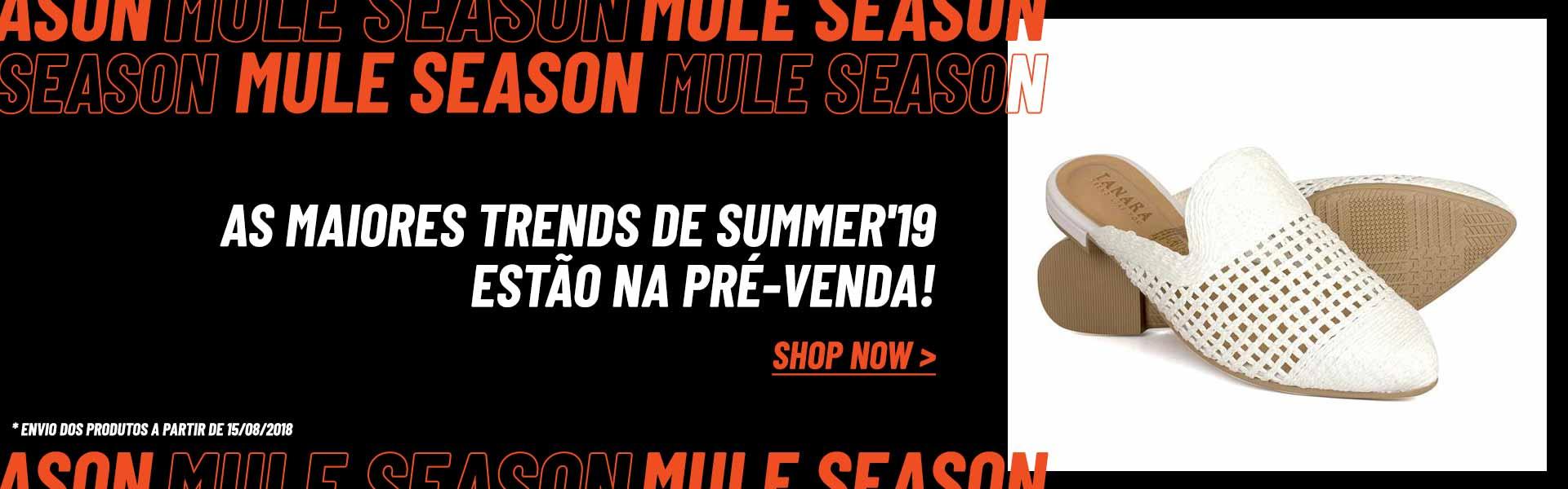 As maiores trends da summer'19 estão em pré-venda