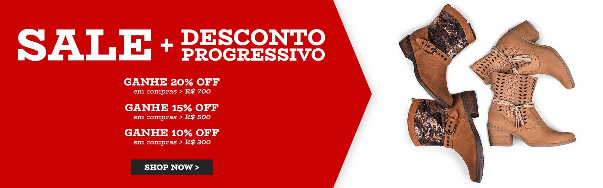 Sale + Desconto Progressivo