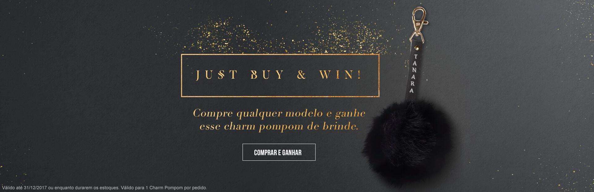 Compre qualquer modelo e ganhe esse charm pompom