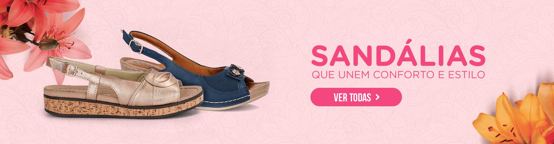 Sandálias que unem conforto e estilo