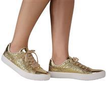 Tênis Tanara  Glitter Dourado