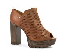 Sandal Boot  Tanara Couro Caramelo