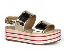 Sandália Flatform  Cancún Dakota Dourada