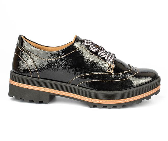 04dc622947 Sapato Dakota Oxford Verniz Preto - Dakota