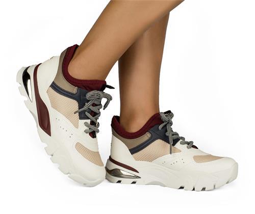 a52eff28ca Tênis Dakota Dad Sneaker Branco e Bordô - Dakota