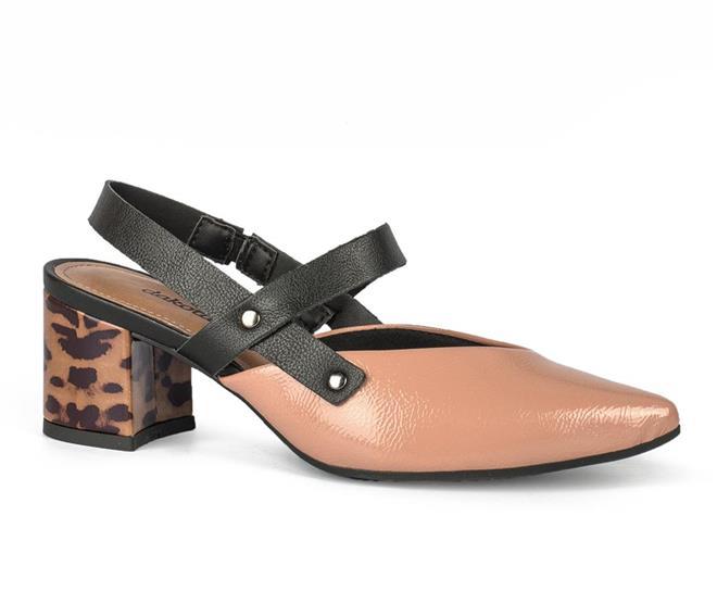 b2f36e391c Sapato Dakota Scarpin Animal Print Nude - Dakota