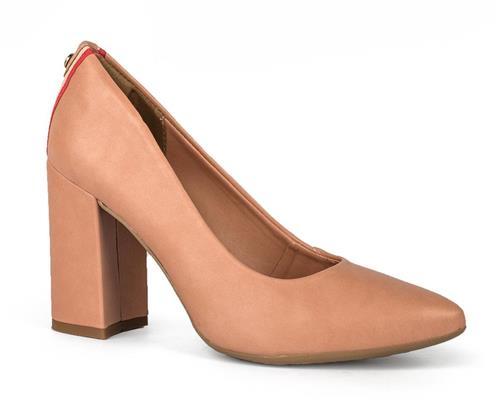 c345437aa3 Sapato Dakota Scarpin Salto Bloco Nude - Dakota