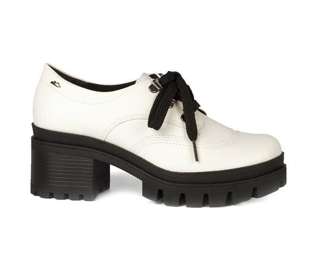ae130902be ... Sapato Dakota Salto Bloco Tratorado Branco. Página Inicial. Ref.   G1351-00005
