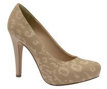 Sapato Tanara  meia pata avelã