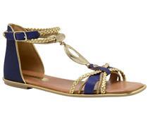 Sandália rasteira  Tanara azul